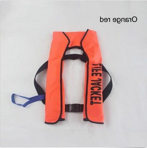 adult automatic inflation manual inflatable life jacket