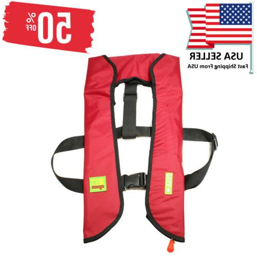 adult inflatable life jacket automatic manual vest
