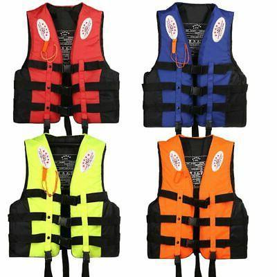 Adult Kids Adjustable Fishing Vest Life Jackets Kayak Reflec