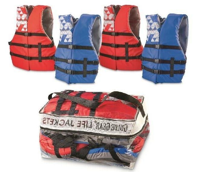adult life jacket 4 pack universal preserver