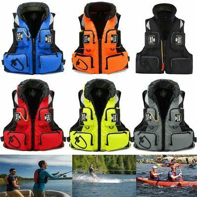 adult life jacket adjustable fishing surf vest