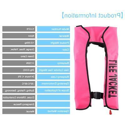Adult Manual Jacket PFD Vest Automatic Inflation