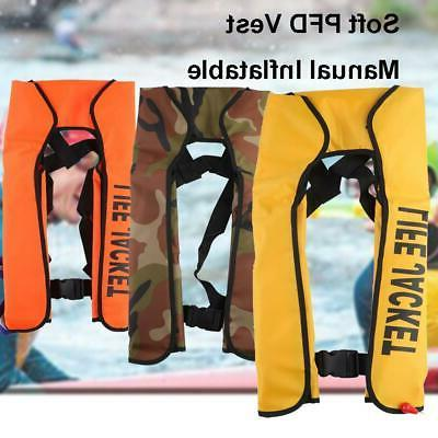 Manual Inflatable Life Jacket Outdoor Portable Life Vest Adu