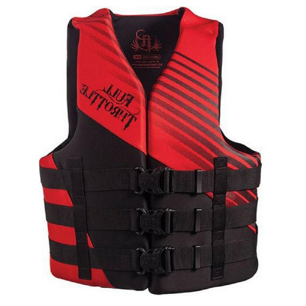 adult rapid dry life jacket vest red