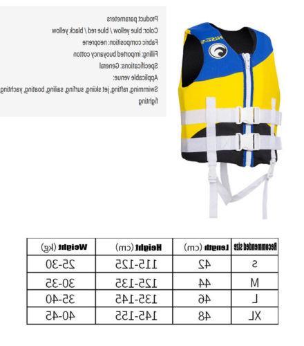 Adults Life Jacket Neoprene Vest Water Wakeboard PFD to