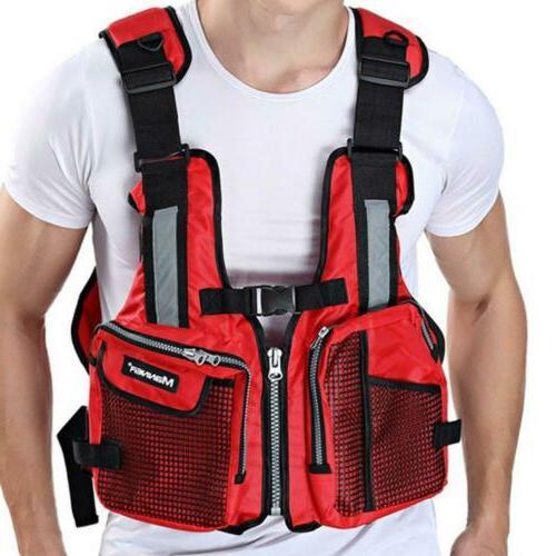 Adults Life Jacket For Fishing Canoe Swimming Waistcoat