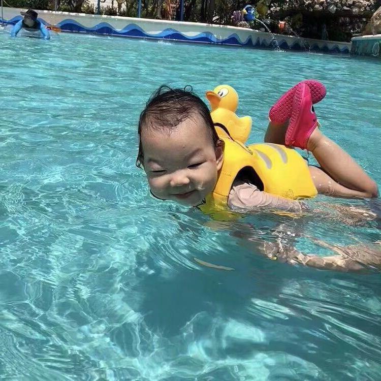 Baby Water Sports Vest <font><b>Yellow</b></font> Survival <font><b>Jacket</b></font> Buoyancy <font><b>Life</b></font> Inflatable <font><b>Life</b></font>