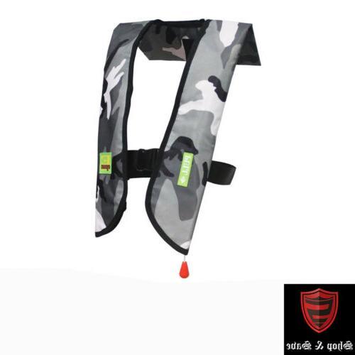 Black Deal M-33 Premium Life Vest Auto Inflatable PFD