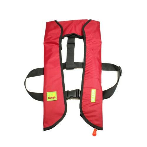 Adult Jacket Automatic Manual PFD Red