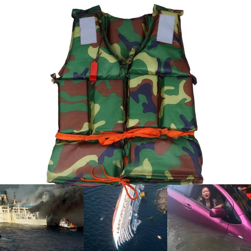 Camouflage <font><b>Life</b></font> Vest <font><b>Sports</b></font> <font><b>Life</b></font> Fishing Drifting