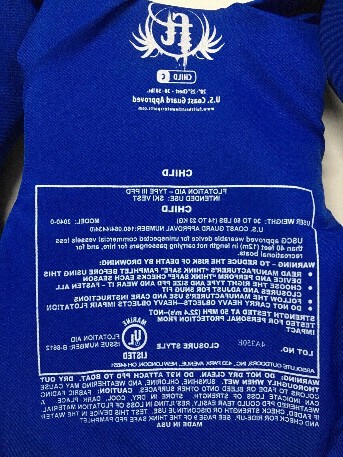 Full Child Jacket 39-50 lbs III PFD