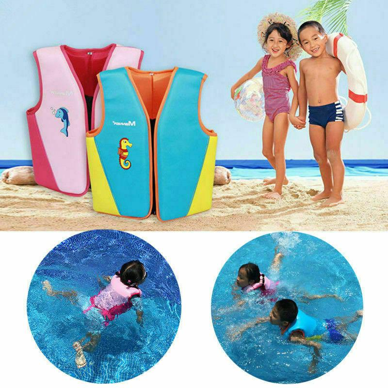 Children Kids Polyester Life Jacket Security Floating Boatin