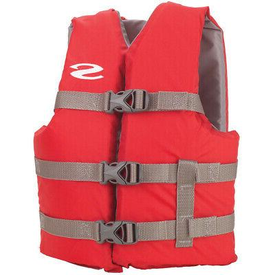 classic youth life jacket 50 90lbs red