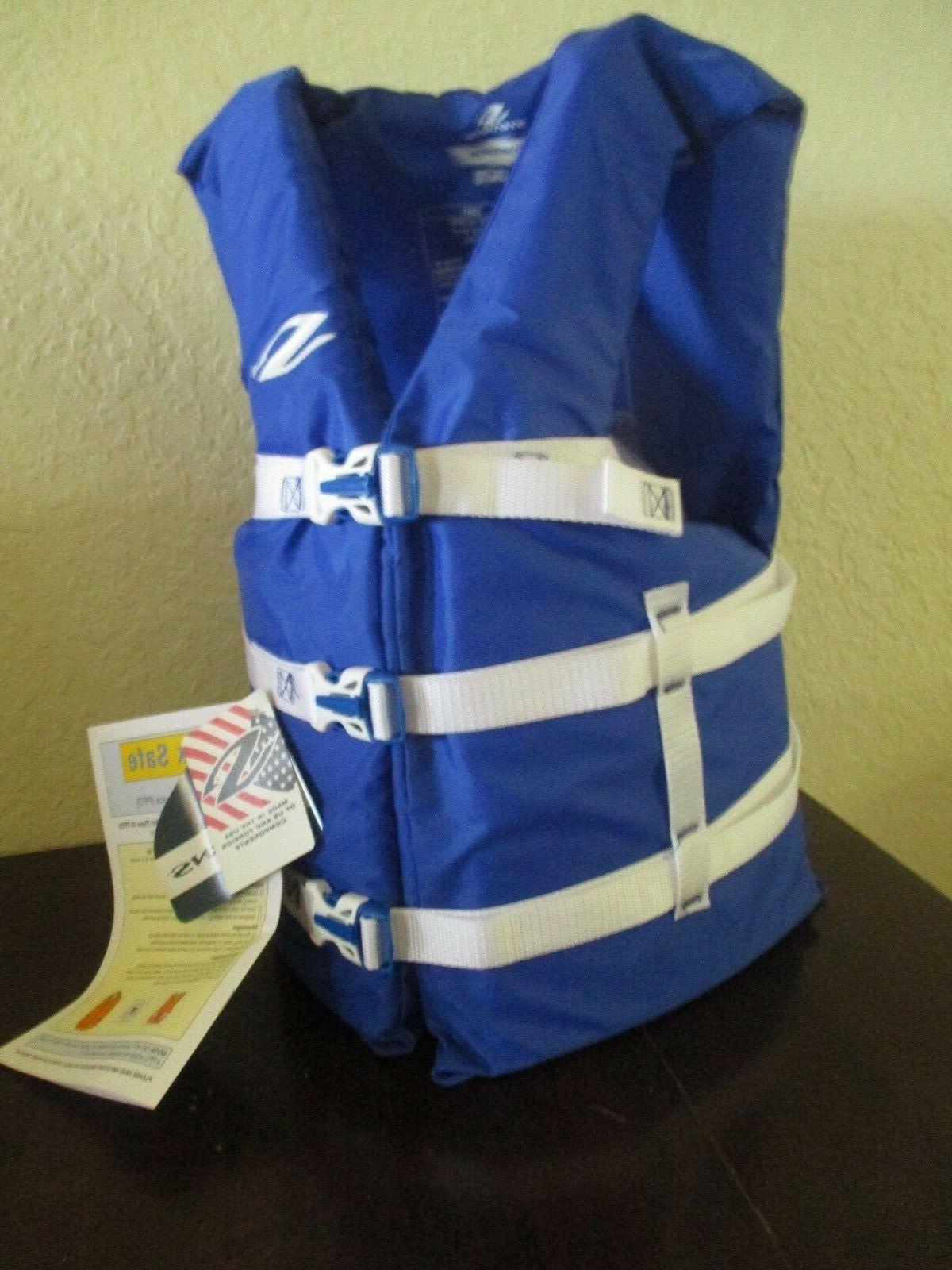 COLEMAN Stearns Classic Universal Life Jacket Boating Vest BLUE