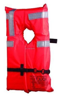 Kent Commercial Type I Collar Style Life Jacket, Orange
