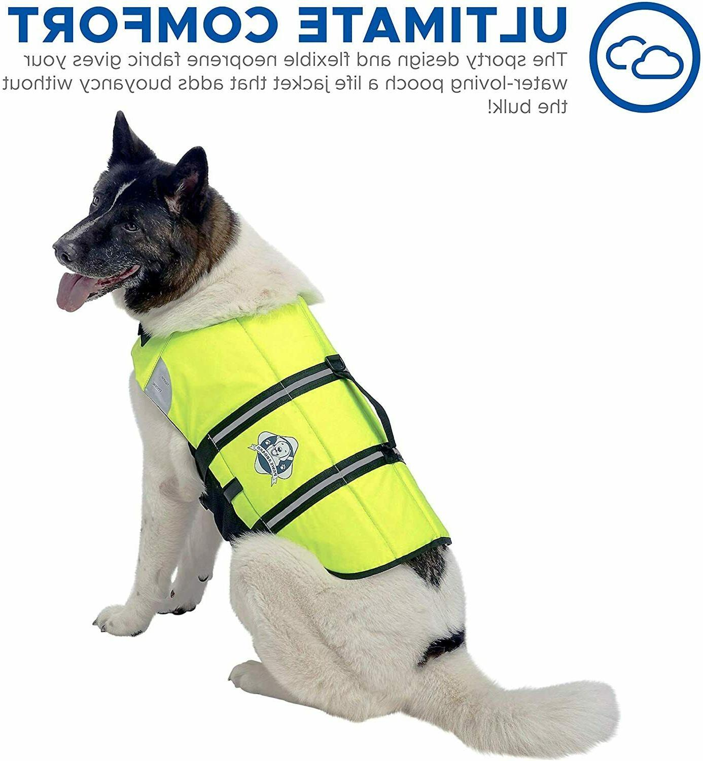 Paws Aboard Dog Life Jacket Vest for Swimming and Boating Ne
