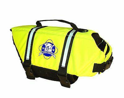 dog lifejacket large neon yellow life vest