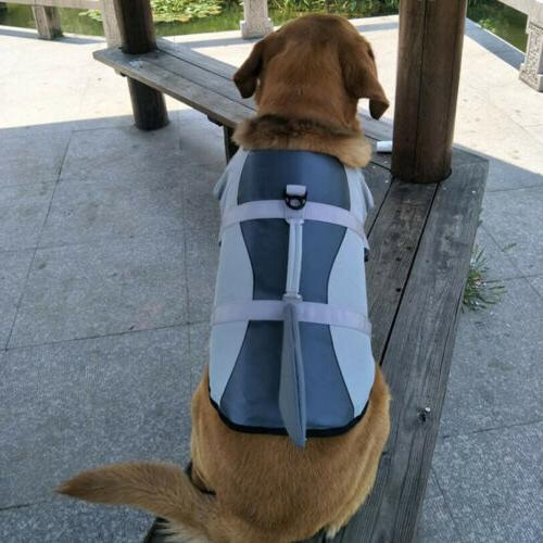 Durable Pet Jacket Swimming Safety w/ Puppy Lifesaver