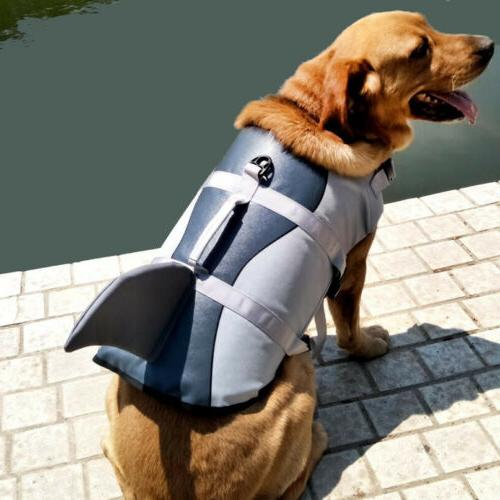 Durable Pet Life Jacket Swimming w/ Pull Handle Puppy Lifesaver