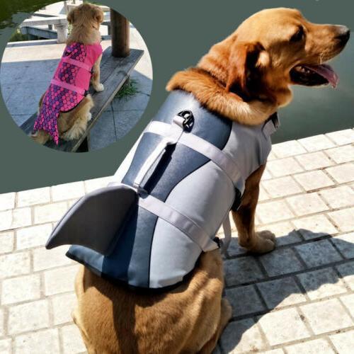 durable pet dog life jacket swimming safety