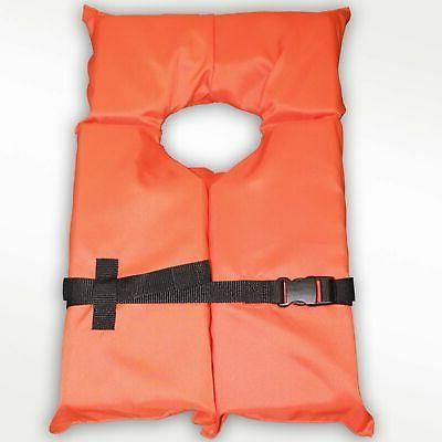 Hardcore Type II Orange Life Jacket Vest - Adult Universal B