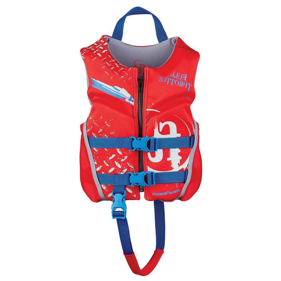 Full Throttle Child Hinged Rapid-Dry Flex-Back Vest, Red