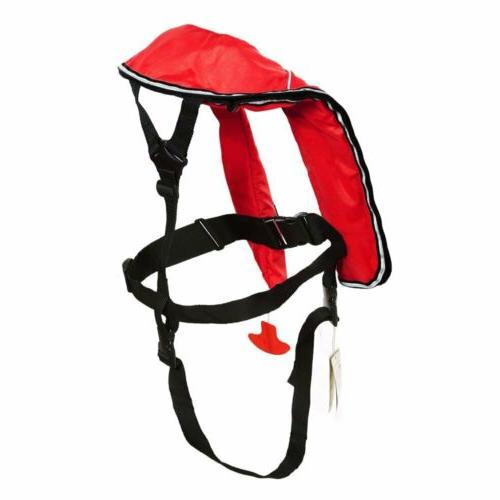 Eyson Inflatable red Automatic Life Inflatable Life Vest for Adult