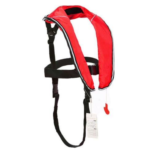 Eyson Inflatable red Life Jacket Inflatable Vest for Adult