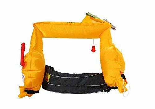 Eyson Inflatable Life Life Vest Belt Pack Bag Manual-Grey