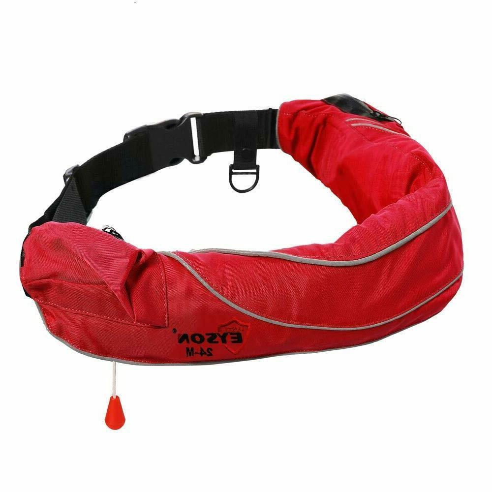 inflatable life jacket ring belt pack waist