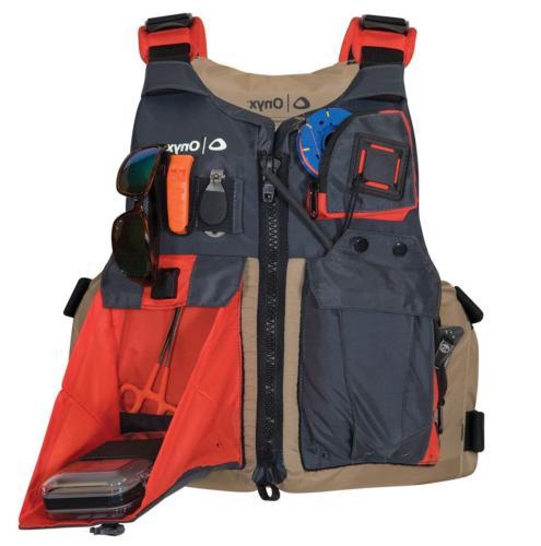 ONYX Kayak Fishing Life Jacket, Tan Oversize
