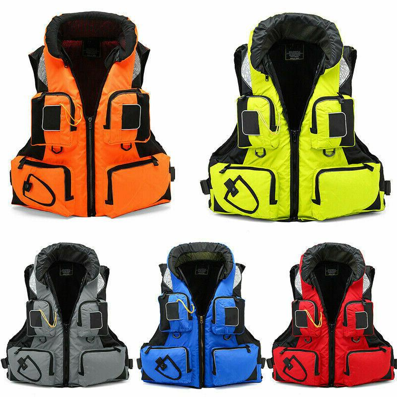 Men Women Fishing Life Vest Outdoor Water Sports Safety Life