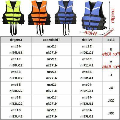 Kids Adjustable Jacket Swiming Life Canoe Sailing