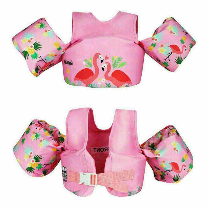 Kids Baby Floaties Vest For Swimming Trainer Buoyancy Life Jacket Arm Wing