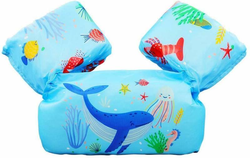 Kids Life Jacket Swim Vest 30-50 Lbs For Toddler Infant Baby