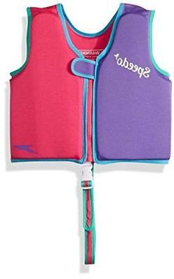 Speedo Kids UPF 50+ Begin to Swim Classic Swim Vest Berry/Gr