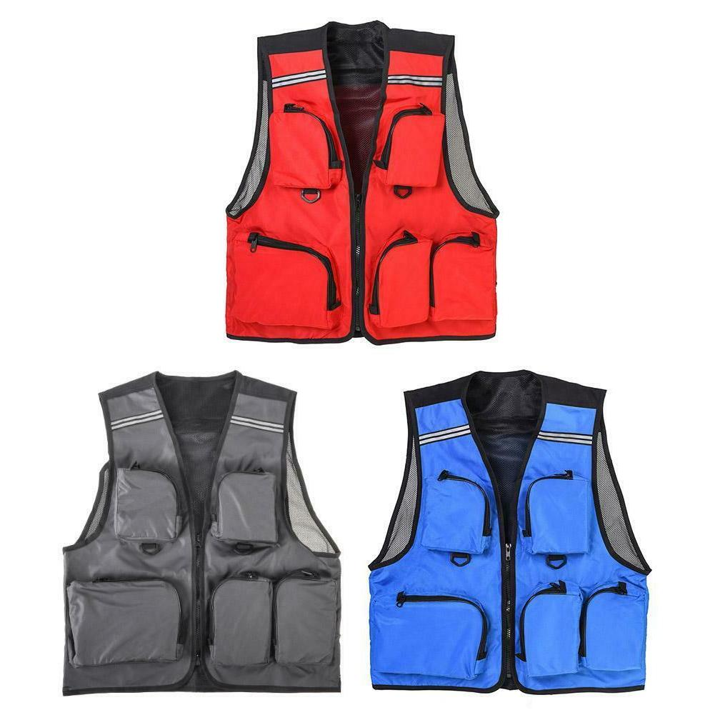 LEO Outdoor Sport Fishing Life Vest 5 Pocket Swimming Life J