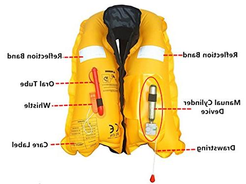 Eyson Life Inflatable PFD Preservers Automatic and Manual Lightweight CE Certificated, 150KG Cartridges