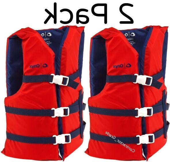 Adult Life Preserver 2-Pack Red USCG III