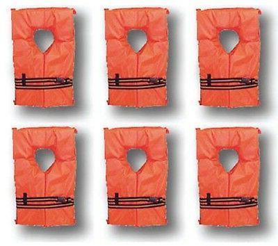Adult Jackets Vest Preserver Pack Orange USCG