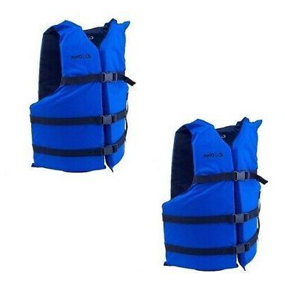 Life Jackets 2 Adult Boating Preserver Ski Jacket