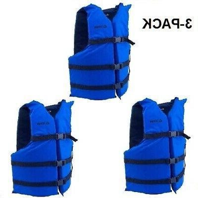 life jackets 3 blue adult type iii