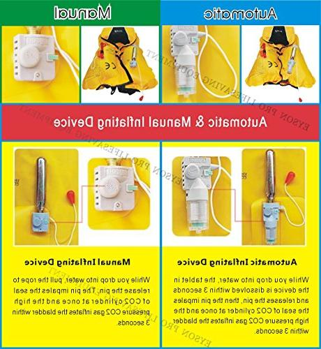Premium Quality / Manual Lifejacket PFD Vest Inflate Aid Lifesaving PFD Color