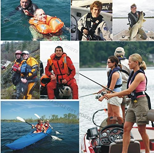 Premium Quality Manual Life Jacket Lifejacket PFD Vest Inflate Survival Lifesaving PFD Color