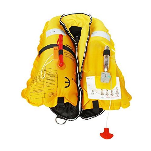 Manual Life Lifejacket Floating Vest Inflate Survival Aid Lifesaving Basic Color