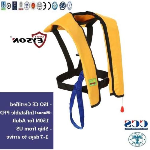 Manual Inflatable  Life Jacket Saving VestPFD 150N Professio