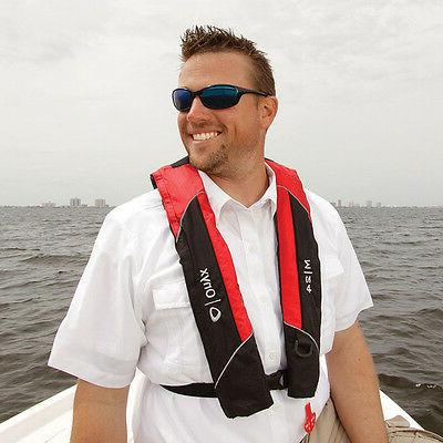 Onyx Manual Inflatable Jacket Vest Red - -USCG Approved