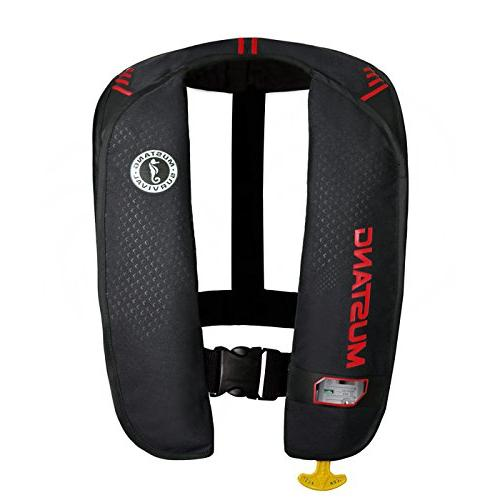 Mustang MD2016 MIT 100 Inflatable Automatic PFD Black/Red