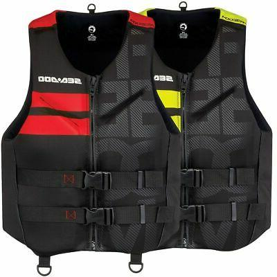 men s freedom life jacket yellow red