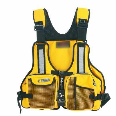 Adult Adjustable Life Vest Buoyancy Sailing Kayak Canoeing F